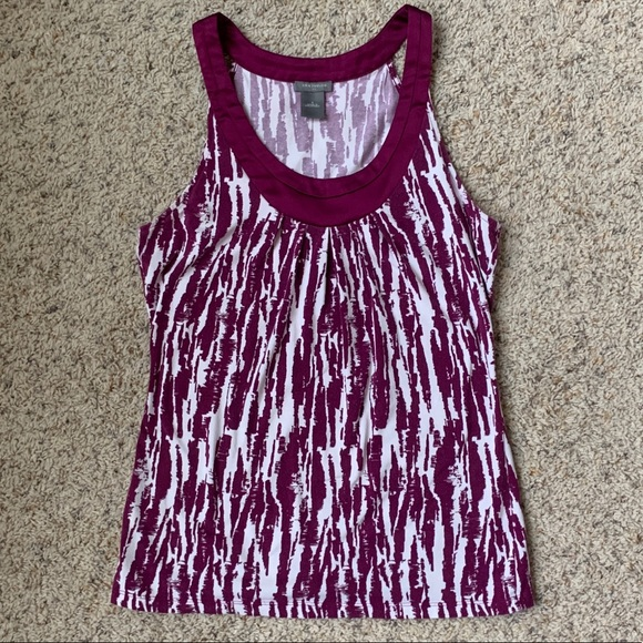 Ann Taylor Tops - 💠 2 for $20! Purple and white Ann Taylor tank